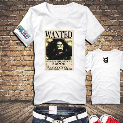 One Piece Brook Wanted Poster T-Shirt