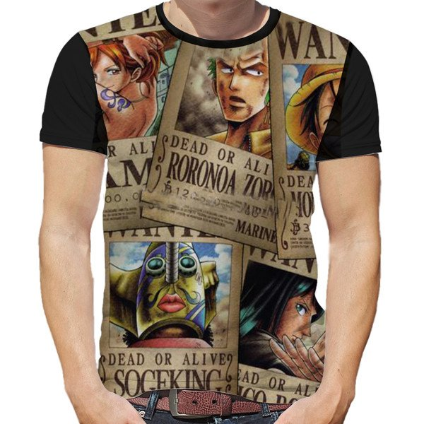 One Piece Straw Hats Wanted Posters T-Shirt