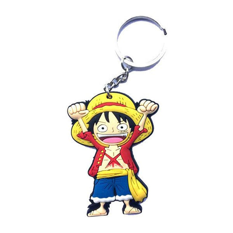 One Piece Rubber Keychain - Monkey D. Luffy