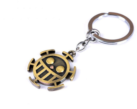 One Piece Heart Pirates Metal Keychain