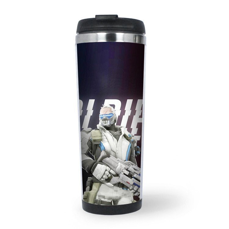 Overwatch Sports Water Bottle - Soldier 76
