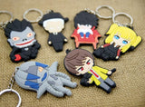 Set of 6 Death Note Character Keychains