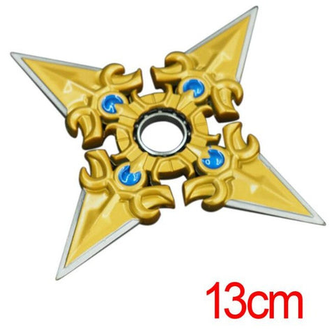 1Pcs/set Cool Hero alliance  weapon model Metal bearing rotating darts shuriken Children's toys Gifts for children