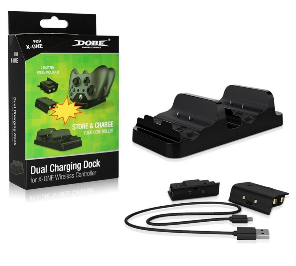 Xbox One Dual Charging Dock with Batteries