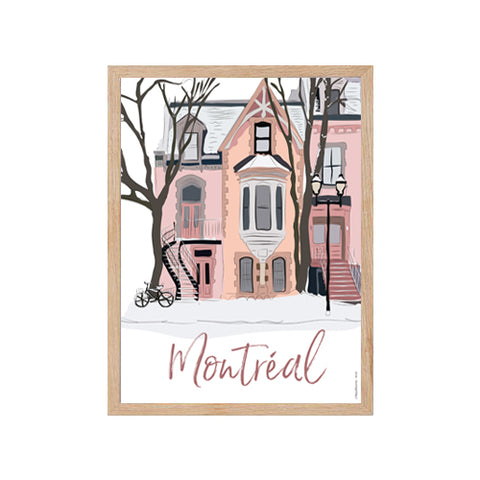 Montreal - snowy street