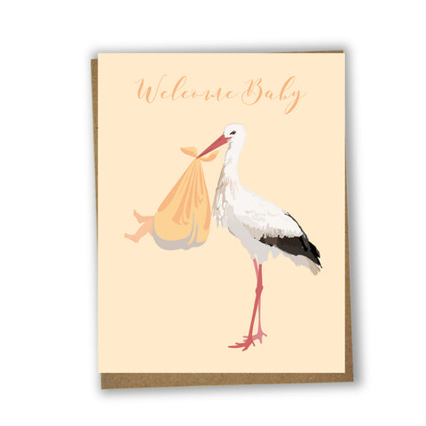Welcome Baby - stork