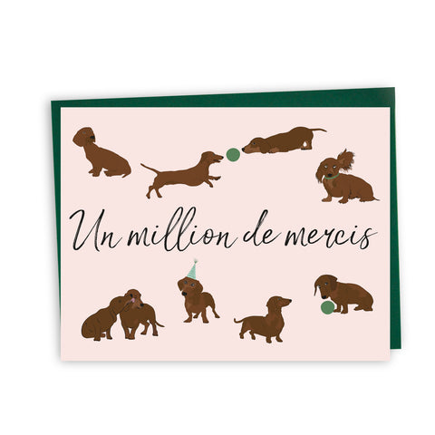 Carte un million de mercis chiens