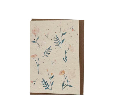 Plantable seed card - Flowers