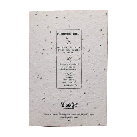 Plantable seed card - Merci