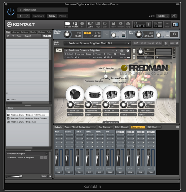 BRIGHTON DRUMS - Fredman Digital