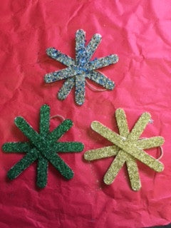 Sparkly Snowflakes set of 3