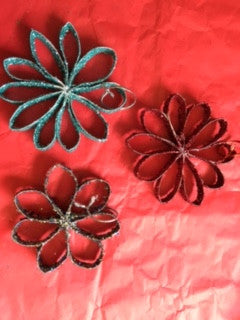 Sparkle Flower Decorations Set of Three