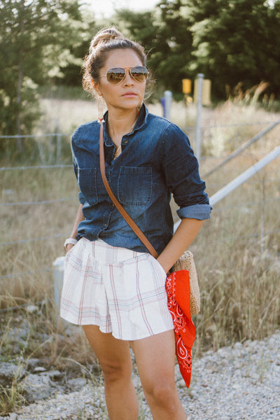 ppla noka plaid shorts
