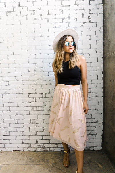 MINKPINK x Beauty and The Beast 'Plumette' Skirt