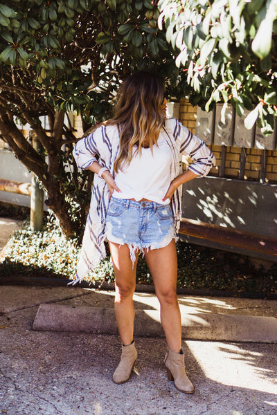PPLA Denim Mid-Rise Shorts