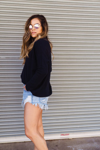 PPLA 'Aida' Knit Sweater in Navy