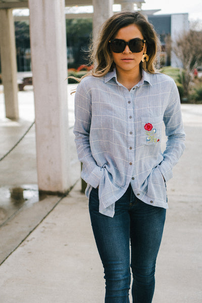 PPLA Stitched Embroidery Button Up