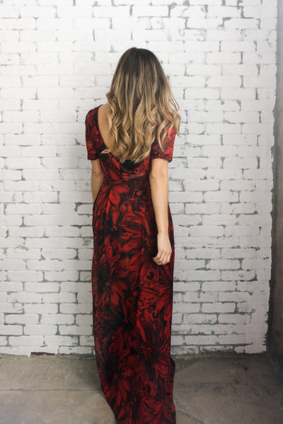 S.I.C. Couture 'Jessica' Floral Maxi Dress