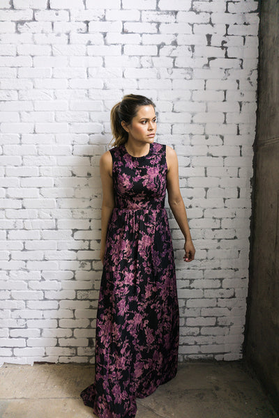 S.I.C. Couture 'Kate' Floral Maxi Dress