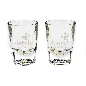 Klatch Shot Glass ~ Set of 2 - Klatch Coffee Roasting