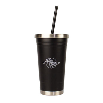 18oz. LA Graphic Stainless Steel Straw Tumbler - Klatch Coffee Roasting