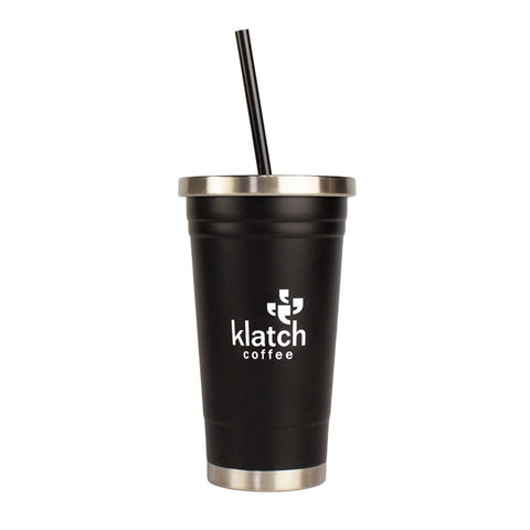 18 oz LA Graphic Stainless Steel Straw Tumbler