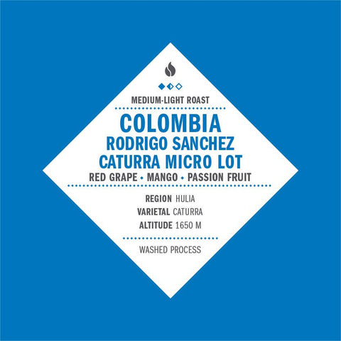 Colombia Rodrigo Sanchez Caturra Micro Lot