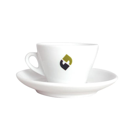 5 oz. Cappuccino Cup and Saucer Set - Klatch Coffee Roasting
