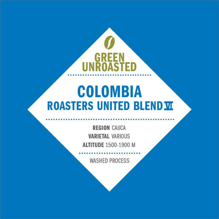 Green-Unroasted Colombia Roasters United Blend VI