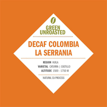 Green-Unroasted Decaf Colombia La Serrania