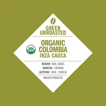Green-Unroasted Organic Colombia Inza Cauca