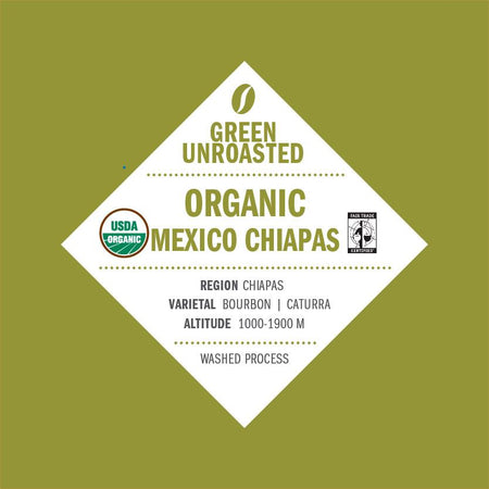 Green-Unroasted Organic Mexico Chiapas