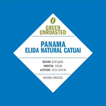 Green-Unroasted Panama Elida Natural Catuai