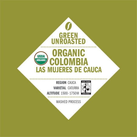Green-Unroasted Organic Colombia Las Mujeres De Cauca (FTO) - Klatch Coffee Roasting