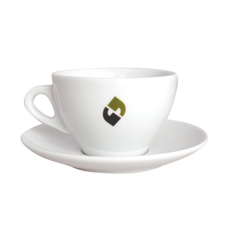11 oz. Latte Cup and Saucer Set - Klatch Coffee Roasting