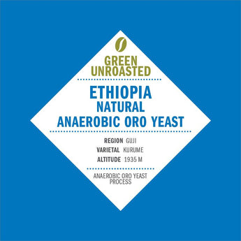 Green-Unroasted Ethiopia Natural Anarobic Oro Yeast