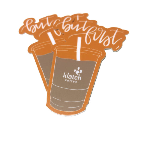 Klatch 'But First' Iced Coffee Stickers, 2-Pack