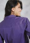 ROPER WOMENS L/S POPLIN SHIRT FRONT-SNAP - SOLID-COLOR PURPLE
