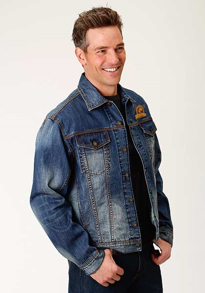 ROPER MEN'S UNLINED DENIM JACKET w/ RENO RODEO LOGO