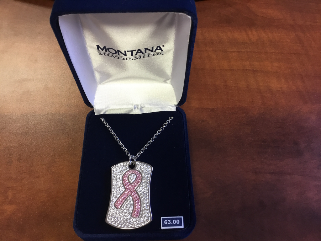 Montana Silversmith Tough Enough To Wear Pink Dogtag Necklace