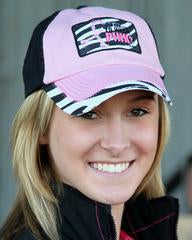 Tough Enough Black and Pink - Zebra Cap / Hat