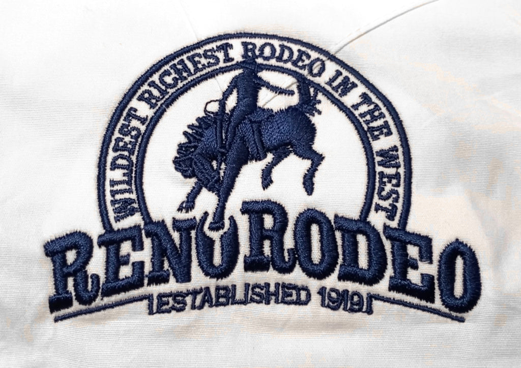 Wrangler Mens White L/S Shirt Reno Rodeo Logo