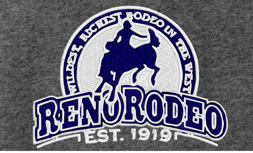 Men's Sport-Tek® Grey w/Navy Blue Accents - Light-Weight Stretch Full-Zip Jacket w/Reno Rodeo Logo