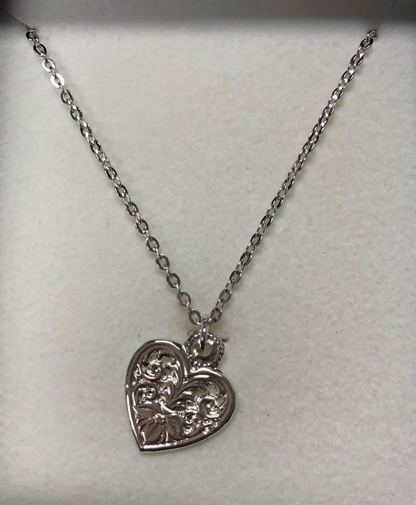 Montana Silversmiths Flower in Heart Necklace