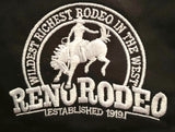 Wrangler Ladies Black Snap Reno Rodeo Logo L/S