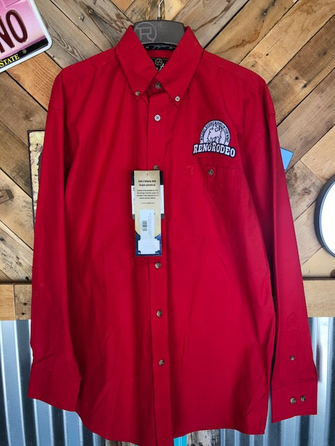 Men's Red Wrangler GS button up