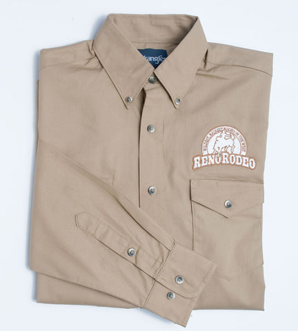 Wrangler Men's Tan Button Down