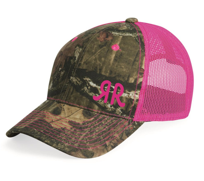 Cap Camo Pink - Neon Mesh Back with RR Brand Logo