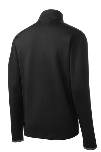 Men's Sport-Tek® Black w/Grey Accents - Light Weight Stretch Full-Zip Jacket w/Reno Rodeo Logo