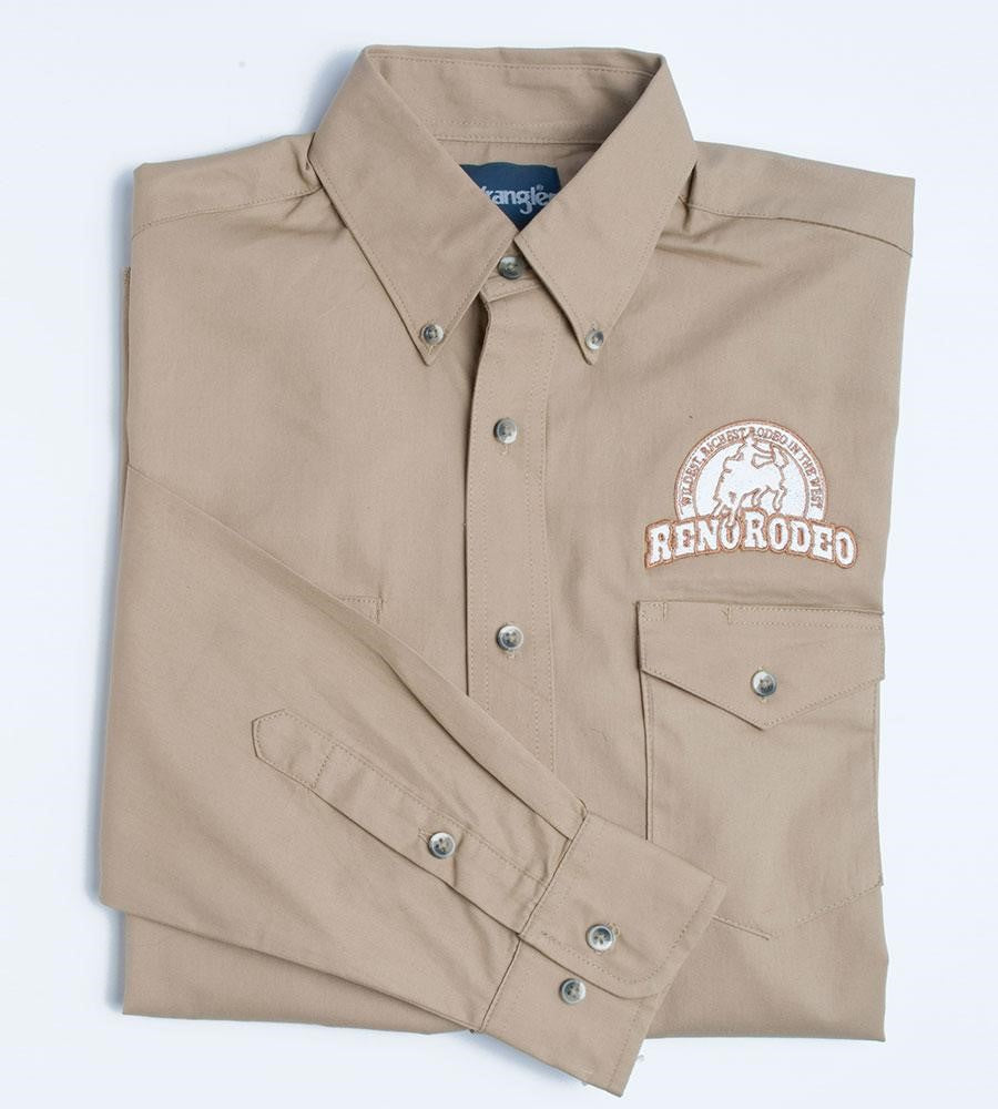 Men's Wrangler Tan 100 Year L/S Shirt